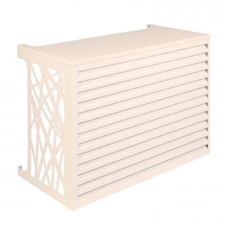 Cache climatiseur extérieur Aluminium Crème